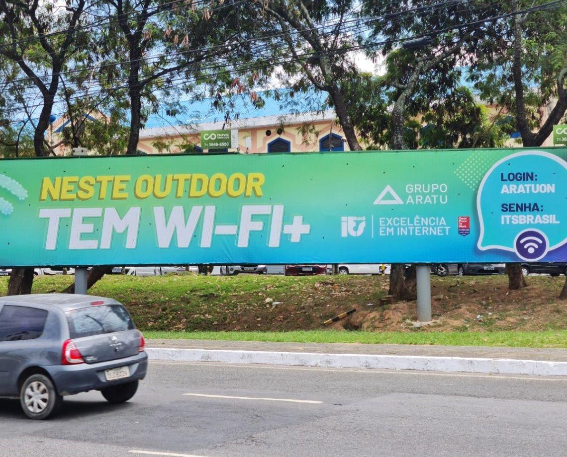 Outdoor no Imbuí oferece Internet gratuita da ITS Brasil