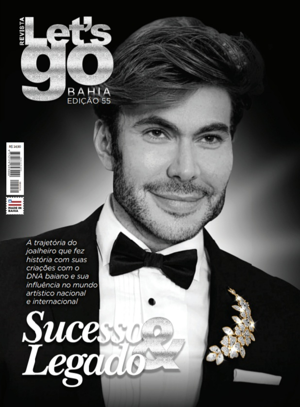 O brilho de Carlos Rodeiro irradia a capa da nova edição da Revista Let´s Go Bahia