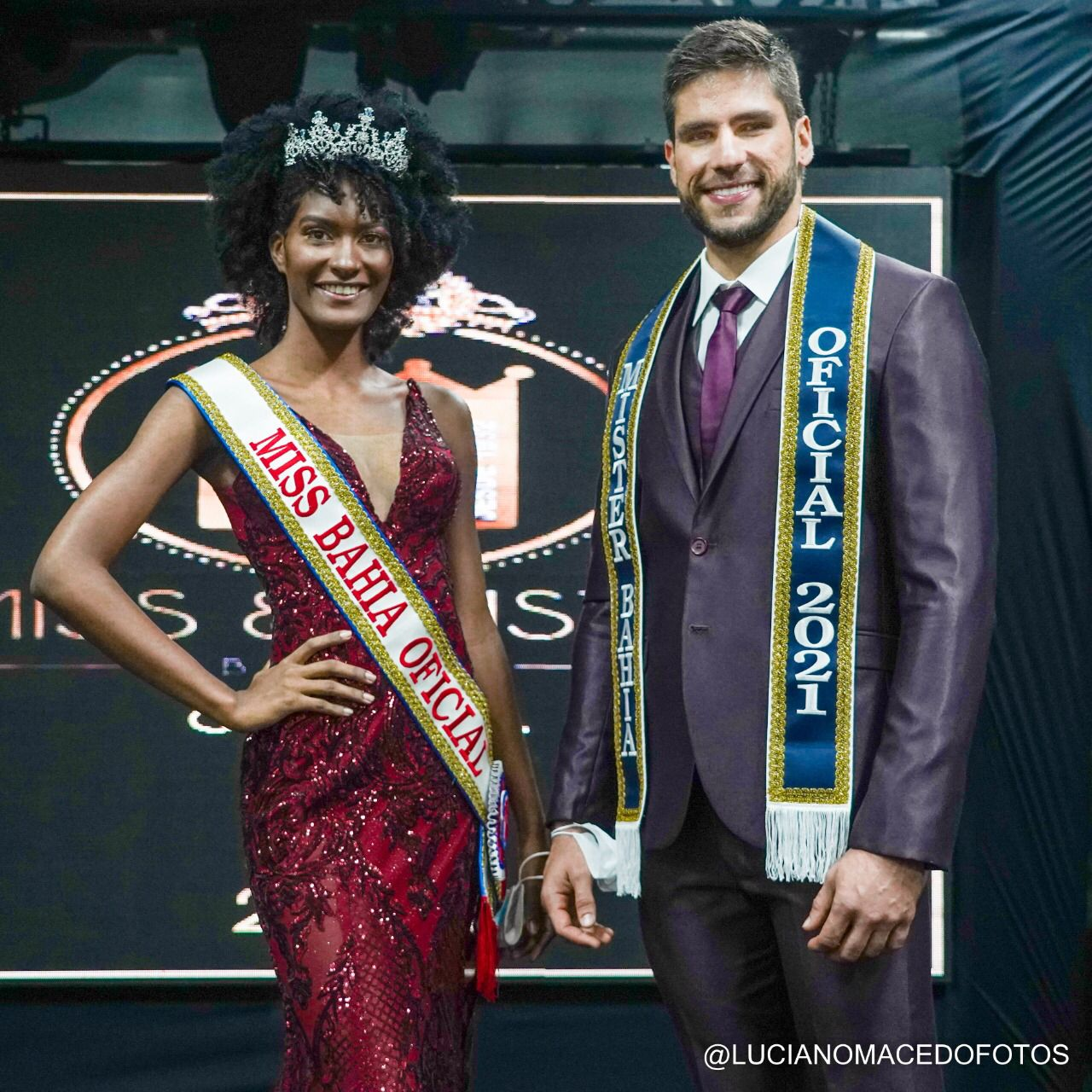 Lucas D´Ultra e Thulasi Hindra: Mister e Miss Bahia Oficial